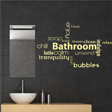 Sticker Bathroom, enjoy, calm… - stickers salle de bain & stickers muraux - fanastick.com