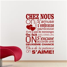 Sticker Chez nous, on s'aime