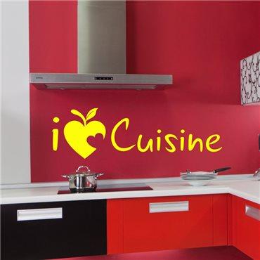 Sticker I love cuisine - stickers cuisine & stickers muraux - fanastick.com