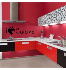 Sticker I love cuisine