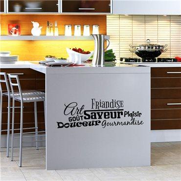 Sticker Art, goût, saveur - stickers cuisine & stickers muraux - fanastick.com