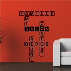 Sticker Famille, salon, repos