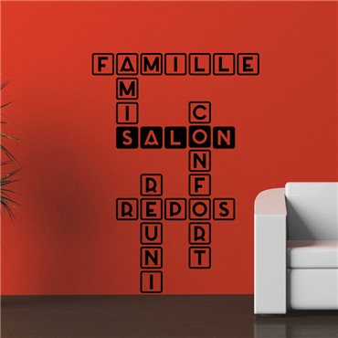 Sticker Famille, salon, repos - stickers citations & stickers muraux - fanastick.com