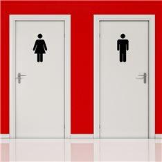 Sticker Silouhette homme et femme