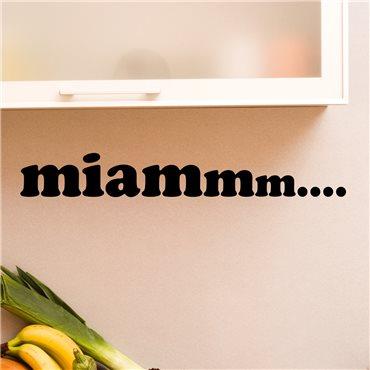 Sticker Design miam - stickers cuisine & stickers muraux - fanastick.com