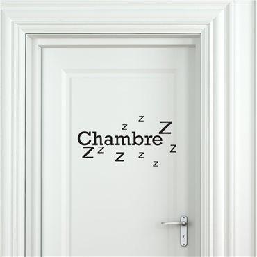 Sticker porte Chambre Zzz - stickers porte & stickers deco - fanastick.com
