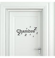 Sticker porte Chambre Zzz