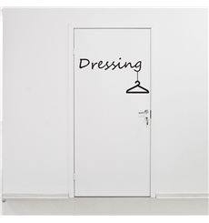 Sticker pour porte Dressing