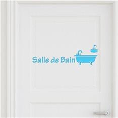 Sticker porte Salle de bain 3