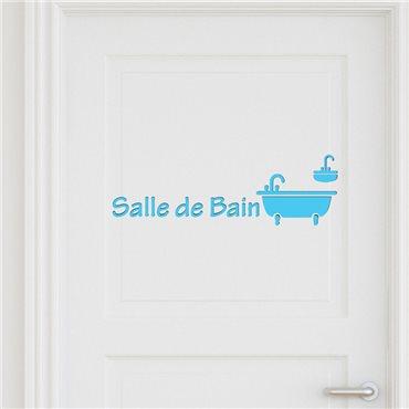 Sticker porte Salle de bain 3 - stickers salle de bain & stickers muraux - fanastick.com