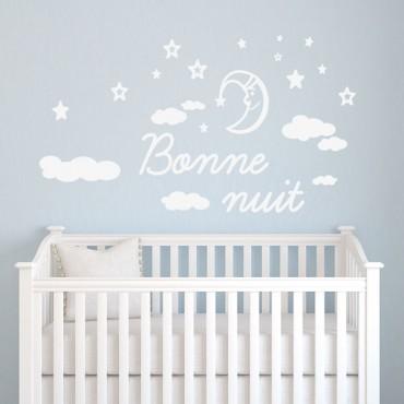 Sticker Bonne nuit - stickers citations & stickers muraux - fanastick.com