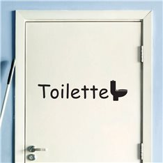 Sticker porte Toilette
