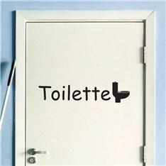 Sticker porte Toilette