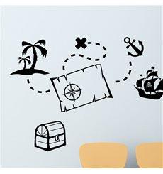 Sticker éléments de pirates