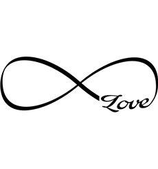 Sticker L'amour dans l'infini