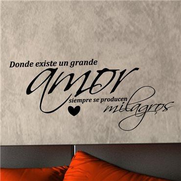 Sticker Grande amor - stickers citations & stickers muraux - fanastick.com