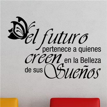 Sticker El futuro pertenece a ... - stickers citations & stickers muraux - fanastick.com