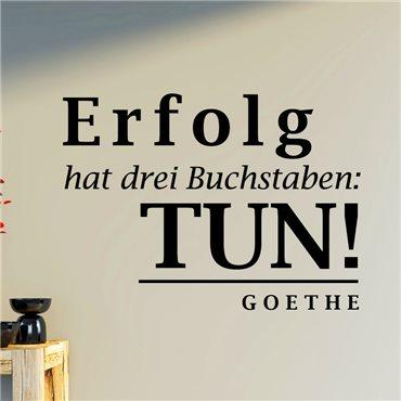 Sticker Erfolg hat drei Buchstaben - Goethe - stickers citations & stickers muraux - fanastick.com