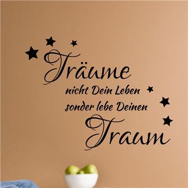 Sticker Leben Sie Ihren Traum... - stickers citations & stickers muraux - fanastick.com