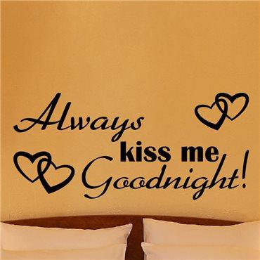 Sticker Kiss me goodnight - stickers citations & stickers muraux - fanastick.com