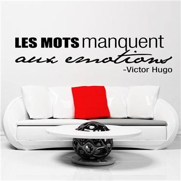 Sticker Victor Hugo Les mots manquent… - stickers citations & stickers muraux - fanastick.com