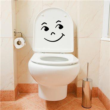 Sticker Drôle de sourire - stickers wc & stickers toilette - fanastick.com