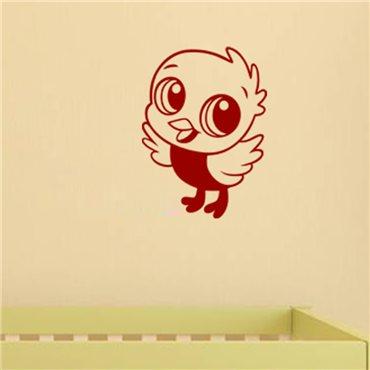 Sticker Petit oiseau volant - stickers chambre bébé & stickers enfant - fanastick.com