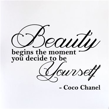 Sticker Beauty begins the moment… - Coco Chanel - stickers citations & stickers muraux - fanastick.com