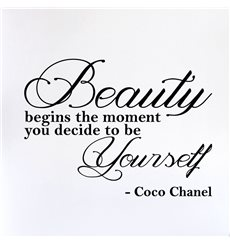 Sticker Beauty begins the moment… - Coco Chanel