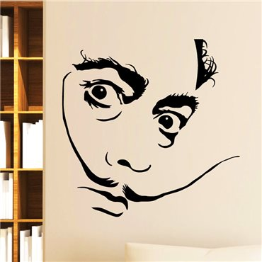 Sticker Portrait de Salvador Dalí - stickers personnages & stickers muraux - fanastick.com