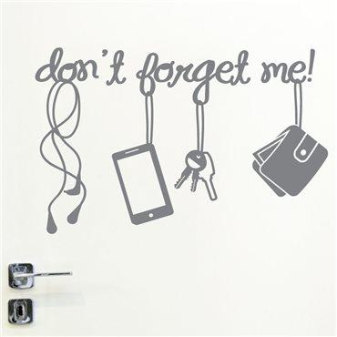 Sticker porte Don't forget me! - stickers citations & stickers muraux - fanastick.com