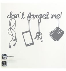 Sticker porte Don't forget me!
