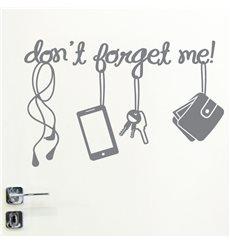 Sticker porte Don't forget me!