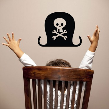 Sticker Chapeau pirate - stickers pirates & stickers enfant - fanastick.com