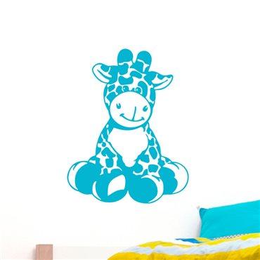 Sticker Petite girafe assis - stickers chambre bébé & stickers enfant - fanastick.com
