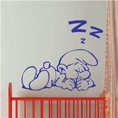 Sticker Silhouette schtroumpf en dormant