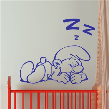 Sticker Silhouette schtroumpf en dormant - stickers chambre enfant & stickers enfant - fanastick.com