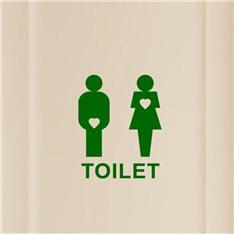 Sticker Design Toilet Love