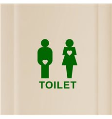 Sticker Design Toilet Love