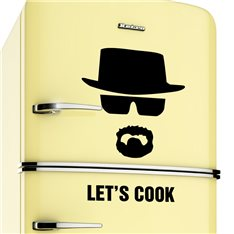 Sticker frigo Let's cook - Breaking bad