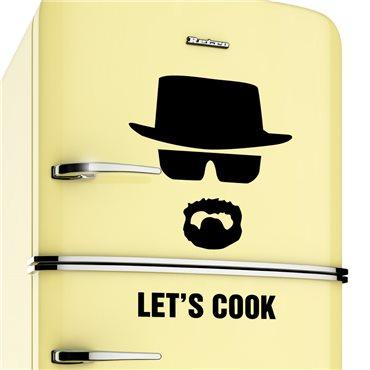 Sticker frigo Let's cook - Breaking bad - stickers frigo & stickers muraux - fanastick.com