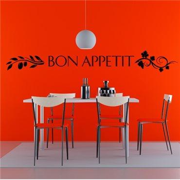 Sticker déco Bon appétit - stickers cuisine & stickers muraux - fanastick.com