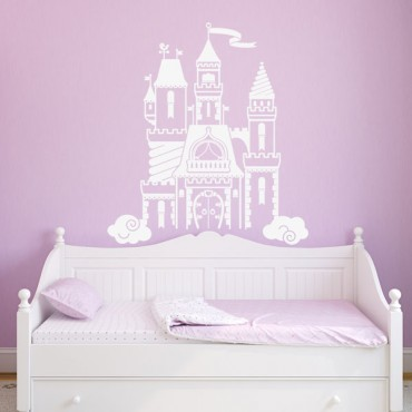 Sticker Chateau enchanté - stickers princesse & stickers enfant - fanastick.com