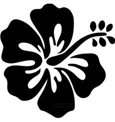 Sticker Fleur d'hibiscus