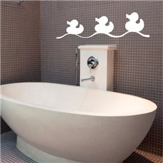 Sticker canards de bain