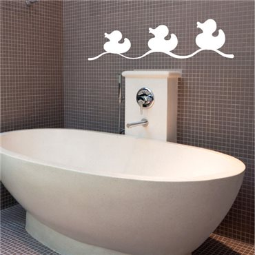 Sticker canards de bain - stickers salle de bain & stickers muraux - fanastick.com