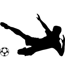 Sticker footballeur 8