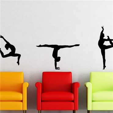 Sticker série de gymnastes - stickers chambre fille & stickers enfant - fanastick.com