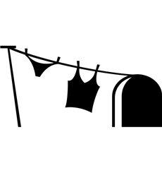 Sticker trou de souris et blanchisserie femme