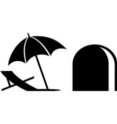 Sticker trou de souris et un parapluie